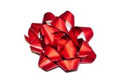 тесемка изолированная смычком красная Стоковое Изображение