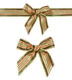 Тесемка и смычок рождества Стоковая Фотография RF