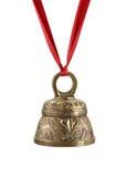 тесемка колокола золотистая красная Стоковая Фотография RF