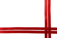 тесемка красного цвета граници стоковое изображение