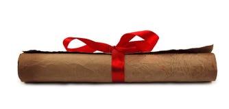 тесемка красного цвета диплома Стоковые Фото