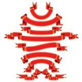 тесемка красного цвета знамен Стоковые Фото