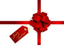 тесемка красного цвета иллюстрации рождества Стоковое Фото