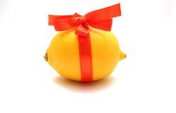 тесемка красного цвета лимона Стоковые Изображения