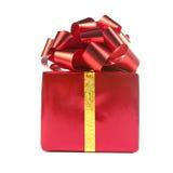 тесемка красного цвета подарка смычка Стоковые Изображения RF