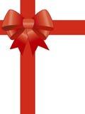 тесемка красного цвета подарка Стоковые Изображения RF