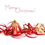 тесемка красного цвета рождества колокола Стоковые Фотографии RF