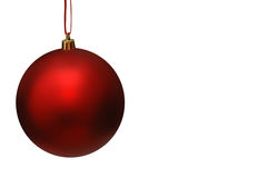 тесемка красного цвета рождества шарика Стоковое фото RF