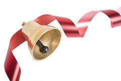 тесемка красного цвета рождества колокола Стоковые Изображения RF