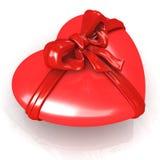 тесемка красного цвета сердца Стоковые Фотографии RF