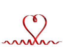 тесемка красного цвета сердца Стоковые Фото