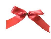 тесемка красного цвета смычка Стоковое Изображение RF