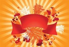 тесемка красного цвета grunge Стоковое Изображение RF