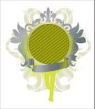 тесемка медальона иллюстрация вектора