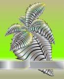тесемка металла листьев Стоковое Изображение RF