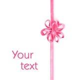 тесемка пинка цветка смычка Стоковое Фото