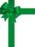 тесемка подарка зеленая Стоковое Изображение