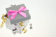 тесемка подарка коробки смычка Стоковое Изображение