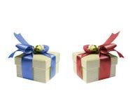 тесемка подарка коробки Стоковое фото RF