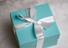 тесемка подарка коробки Стоковое Фото