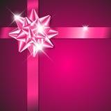 тесемка пурпура смычка Стоковое Фото