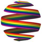 тесемка радуги флага иллюстрация вектора