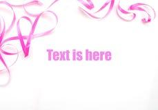 тесемка рамки розовая стоковое изображение