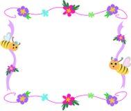 тесемка рамки цветка пчелы Стоковая Фотография