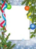 тесемка рамки шарика backgroun голубая Стоковое Фото