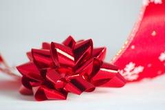 тесемка рождества смычка Стоковое Изображение RF