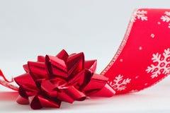 тесемка рождества смычка Стоковые Фото