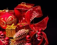 тесемка рождества шарика Стоковые Изображения RF