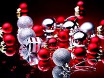 тесемка рождества шарика Стоковое Изображение RF