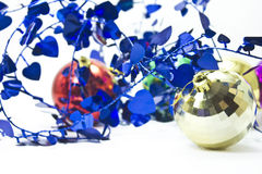 тесемка рождества шариков курчавая Стоковая Фотография RF