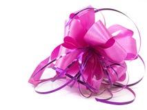 тесемка узла розовая Стоковое фото RF