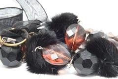 тесемка шариков черная Стоковое Изображение RF