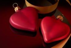тесемка 2 сердец Стоковое фото RF
