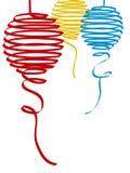 тесемка 3 рождества шарика Стоковая Фотография RF