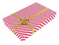 тесемки коробки изолированные подарком striped белизна Стоковая Фотография RF