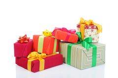 тесемки подарка коробок смычков Стоковые Изображения RF