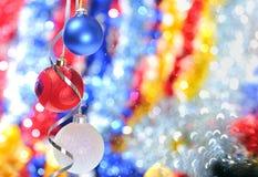 тесемки рождества baubles Стоковые Изображения