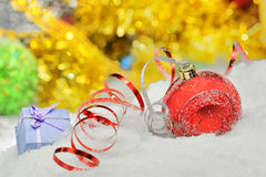 тесемки рождества baubles Стоковые Фотографии RF