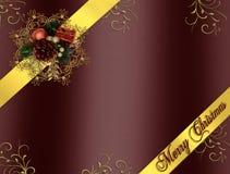 тесемки рождества burgundy граници иллюстрация штока