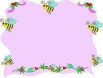 тесемки сердец рамки пчелы Стоковое фото RF
