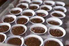 Тесто пирожных шоколада с арахисами Стоковое Изображение RF