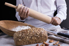 тесто хлеба близкое составляя Стоковое Фото