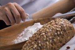 тесто хлеба близкое составляя Стоковые Фото
