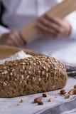 тесто хлеба близкое составляя Стоковое Изображение RF