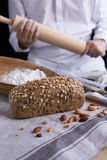 тесто хлеба близкое составляя Стоковые Изображения RF