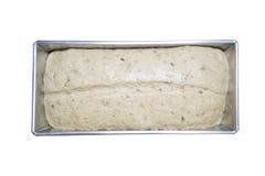 Тесто хлеба в олове хлебца Стоковое Изображение